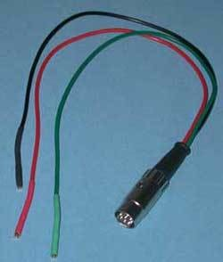 Adapter Cable - Male DIN 8 to 3 Pin Female Lead Set