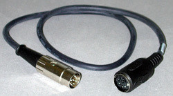 Adapter Cable - M/F DIN with x10 Gain Resistor