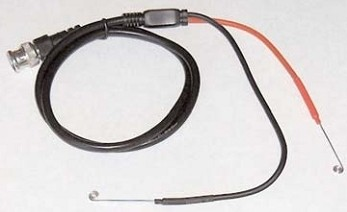 Stimulator Cable - BNC to Flexible 24-gauge silver wire electrodes
