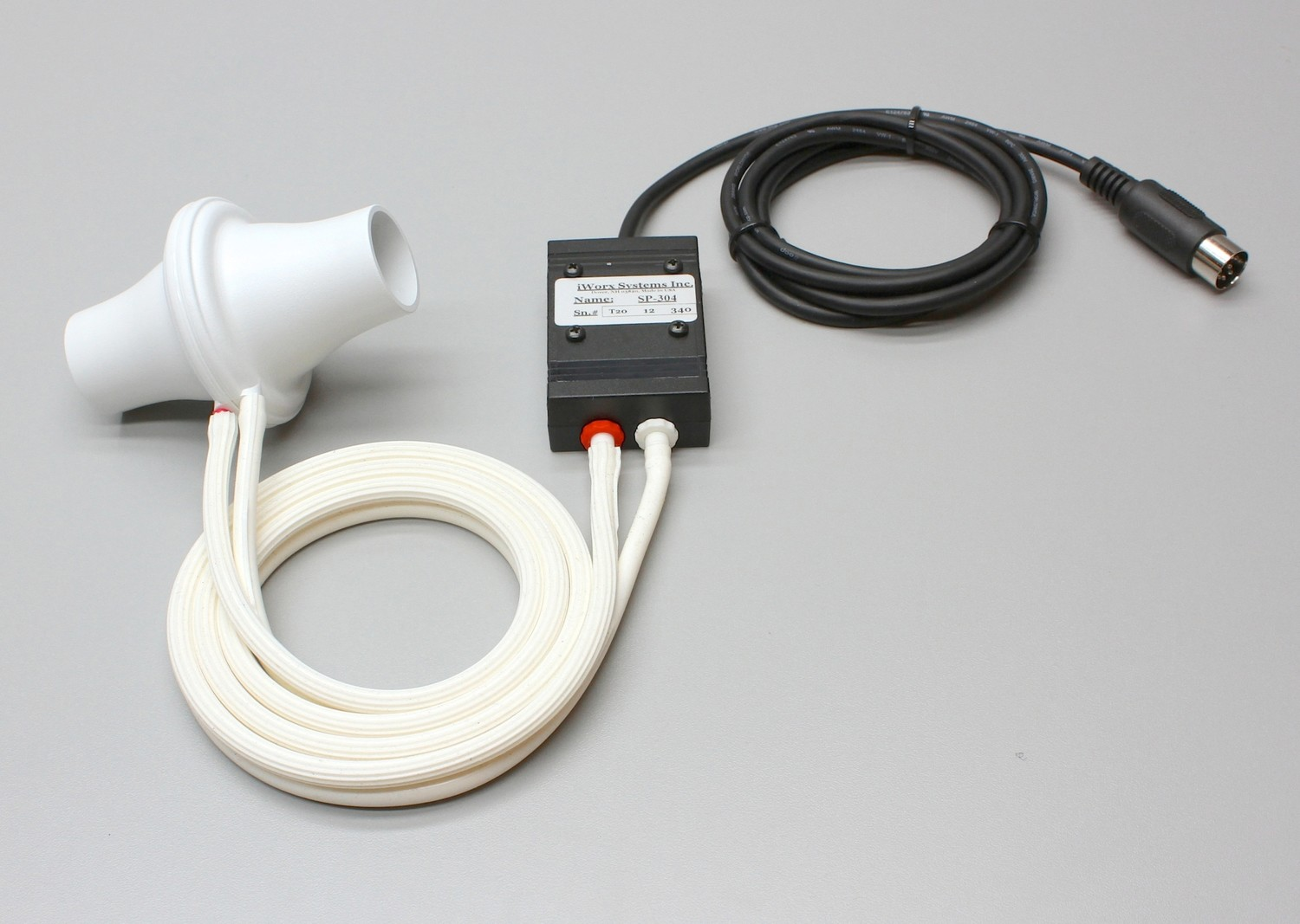 Spirometer with reuseable 300 Liter flow head