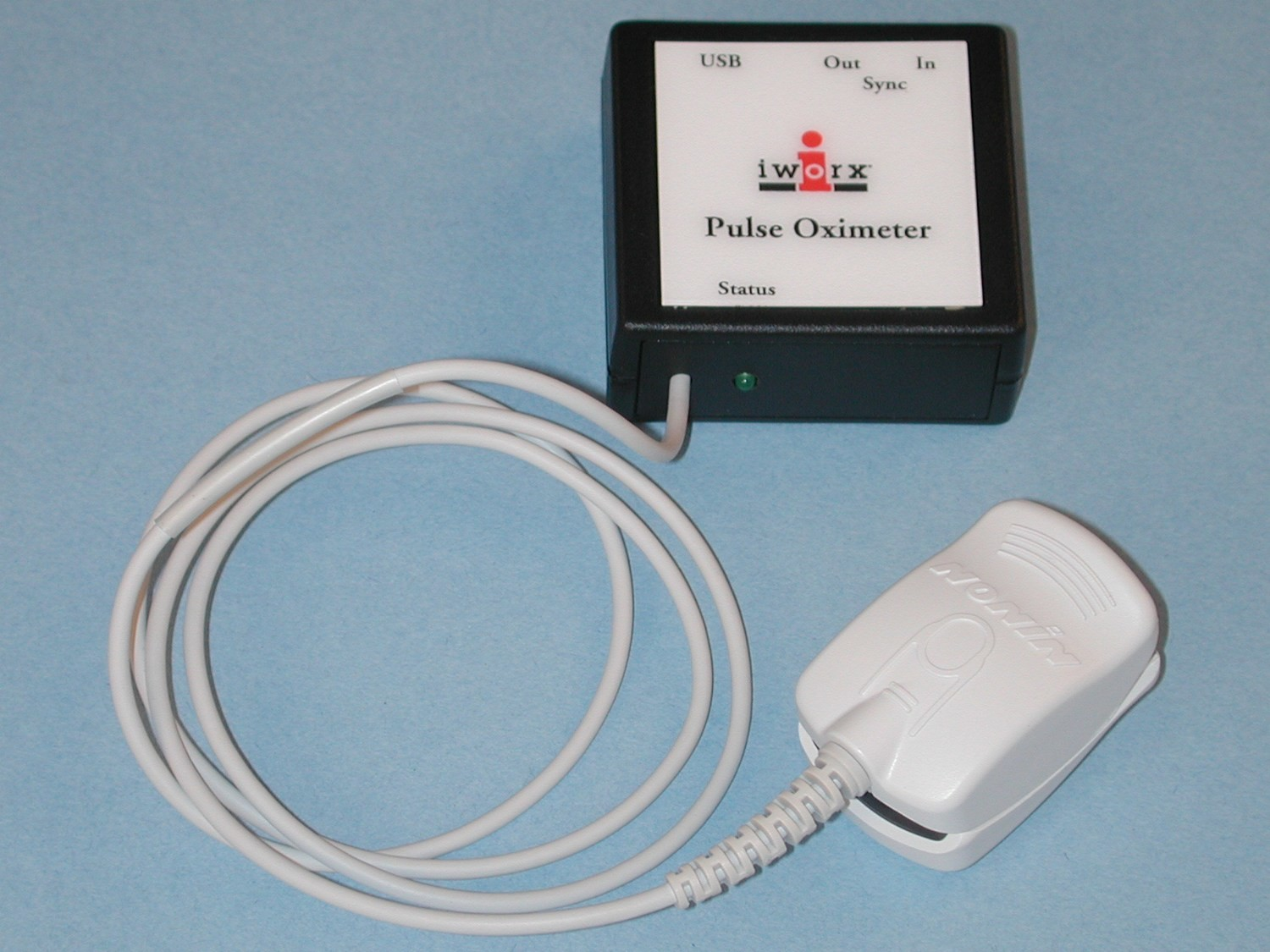 Pulse Ox with USB for connection to computer incl. LabScribe3 Software