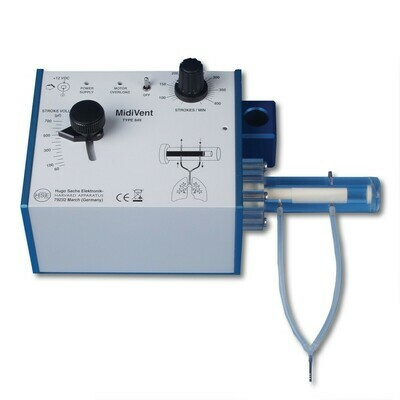 MidiVent Ventilator for Large Mice and Small Rats (Model 849), Single Animal, Volume Controlled