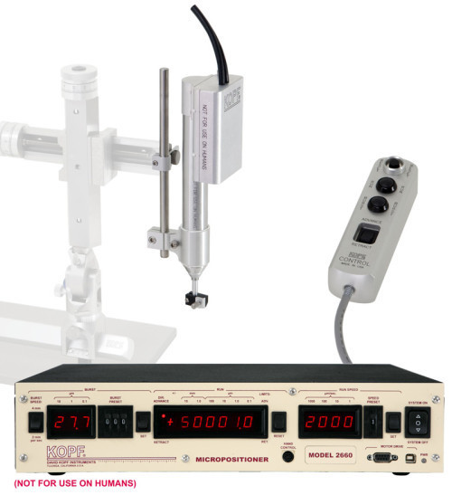 Model 2660 Micropositioner Direct Drive High Speed with 25mm Travel