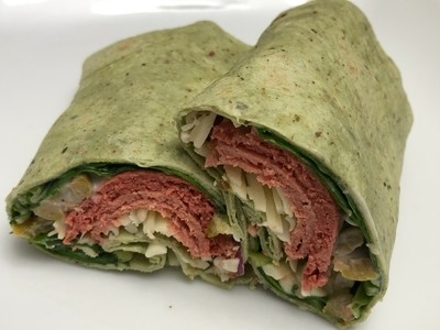 Corned Beef Spinach Wrap