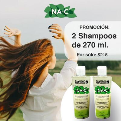 Promoción 2 Shampoos de 270 ml.