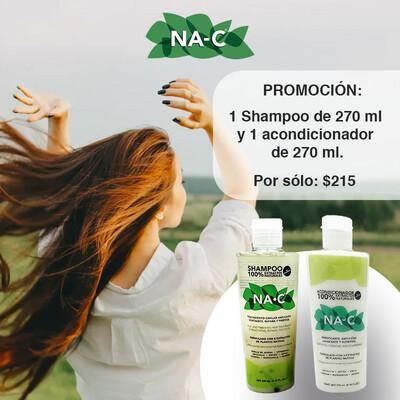 Promoción 1 Shampoo y un acondicionador de 270 ml