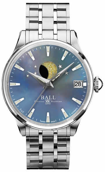 Ball Watch Trainmaster Moon Phase Ladies Blue MOPNL3082D-SJ-BE