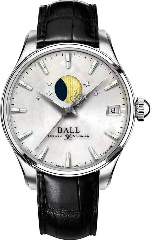 Ball Watch Trainmaster Moon Phase Ladies NL3082D-LLJ-WH