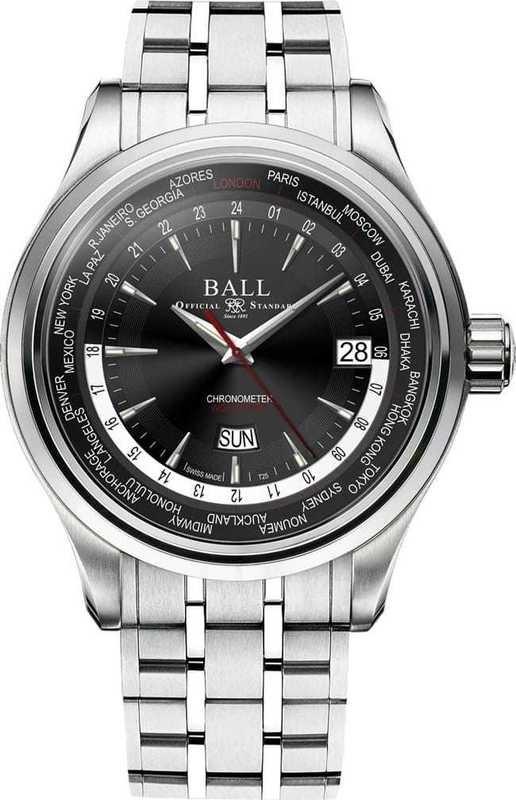 Ball Watch Trainmaster World Time GM2020D-S1CJ-BK