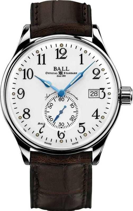 Ball Watch Trainmaster Standard Time NM3888D-LL1CJ-WH