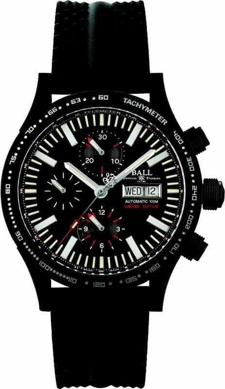 Ball Watch Fireman DLC Glow Storm Chaser Chronograph CM2192C-P2-BK