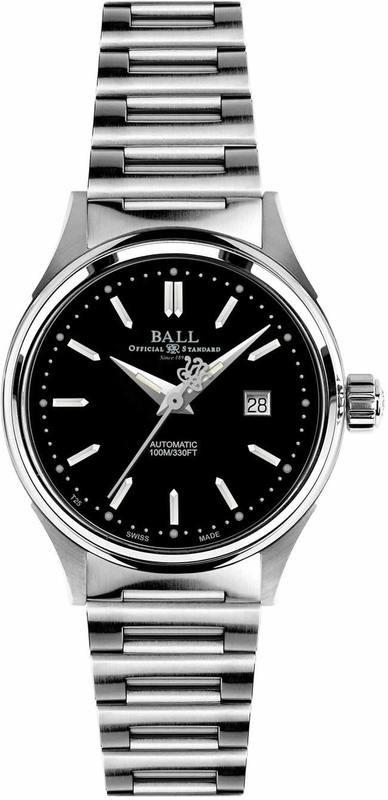 Ball Watch Fireman Classic Lady 31mm on bracelet NL2098D-SJ-BK