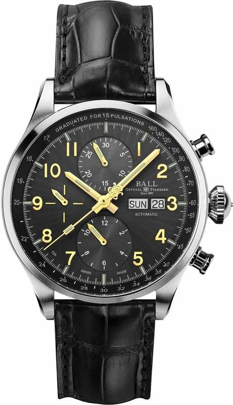 Ball Watch Trainmaster Pulsemeter Chronograph Grey CM3038D-LFJ-GY