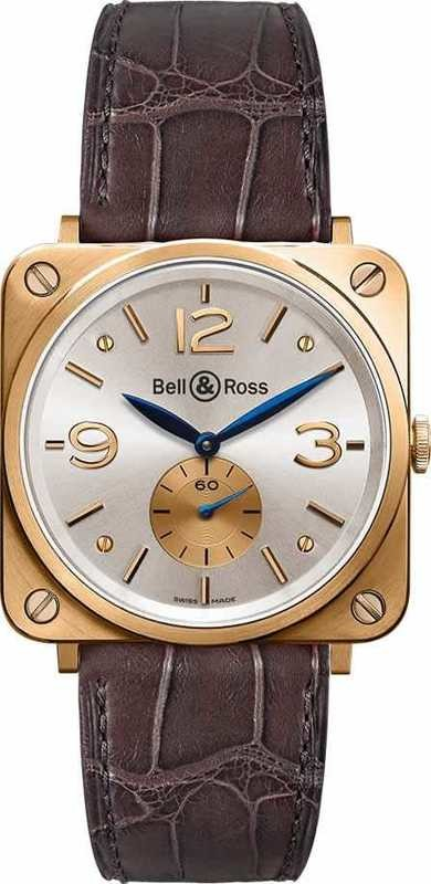 Bell & Ross BR-S Pink Gold Silver Dial BRS-PKGOLD-PEARL-D