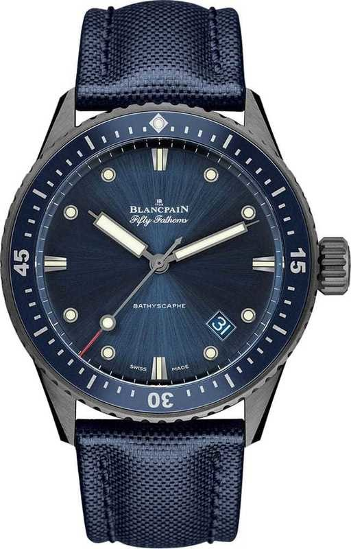 Blancpain Fifty Fathoms Bathyscape Gray Plasma Ceramic 5000-0240-O52A