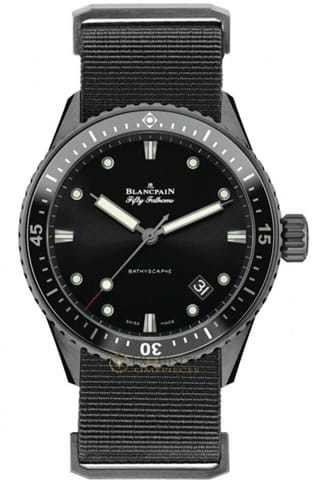 Blancpain Fifty Fathoms Bathyscaphe Ceramic and Liquid Metal 5000-0130-NABA