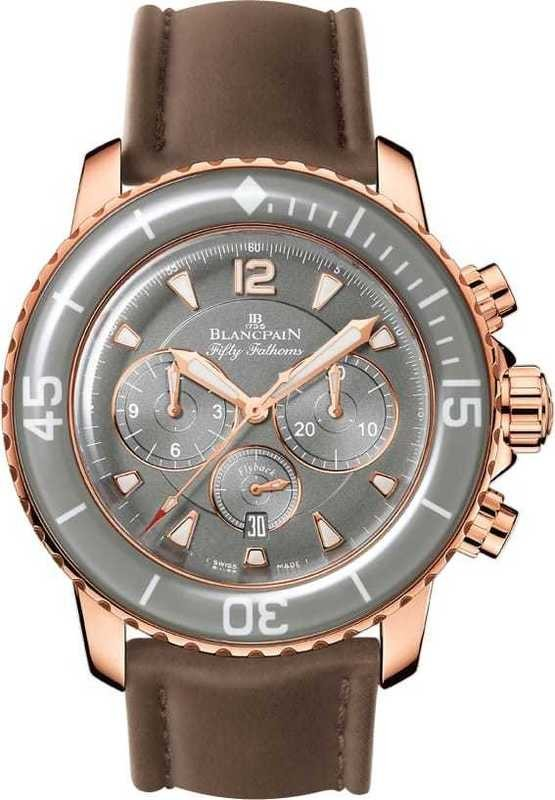 Blancpain Flyback Chronograph Fifty Fathoms Rose Gold Grey Dial 5085F-3634-63