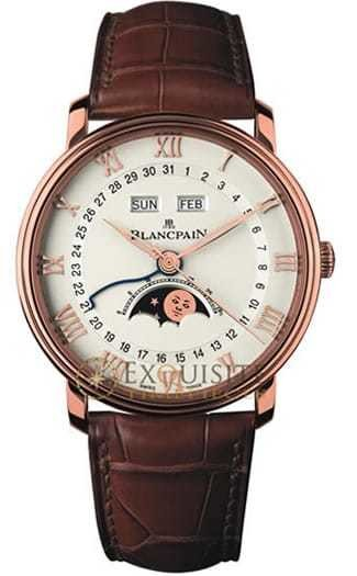 Blancpain Villeret Complete Calendar with Moon Phase in 18kt Rose Gold 6654-3642-55B