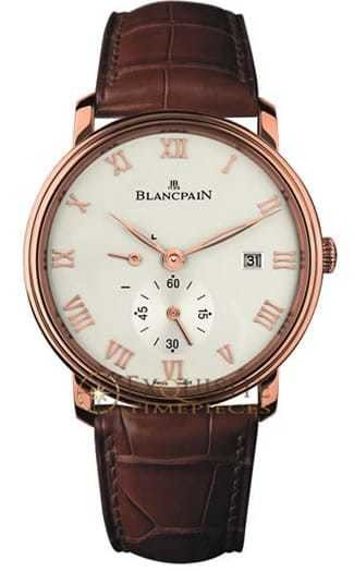 Blancpain Villeret Ultra Slim Date and Power Reserve In 18kt Rose Gold 6606-3642-55B