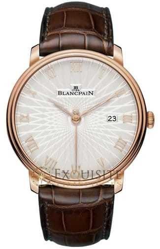 Blancpain Villeret Ultra Slim Stamped Opaline 6651C-3642-55