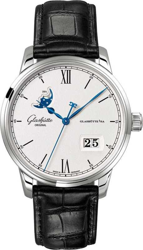 Glashütte Original Senator Excellence Panorama Date Moon Phase Steel 1-36-04-01-02-30