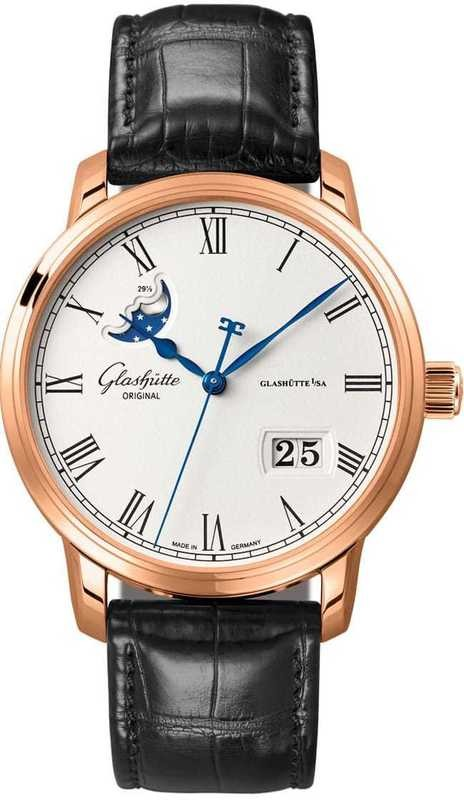 Glashütte Original Senator Panorama Date Moon Phase Red Gold 100-04-32-15-04