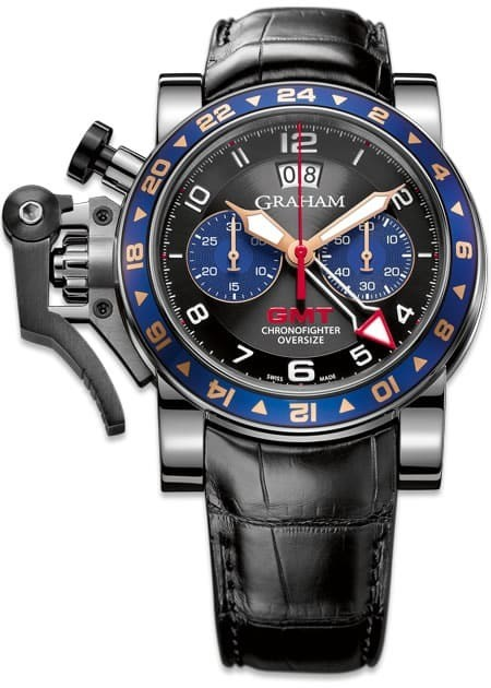 Graham Chronofighter Oversize GMT Blue Steel 2OVGS.B26A