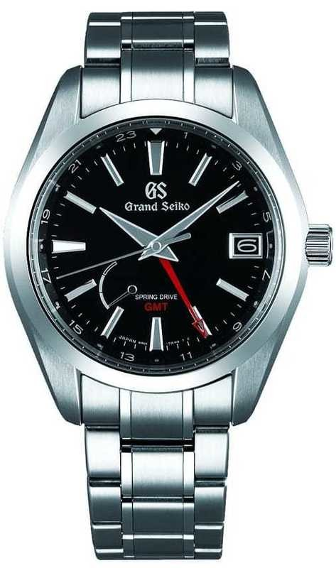 Grand Seiko SBGE211 Spring Drive GMT Black Dial