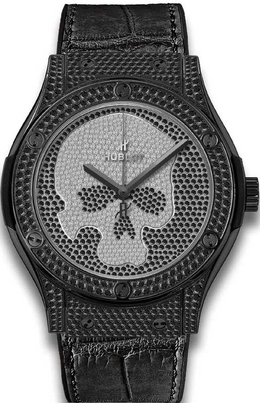 Hublot Classic Fusion Black Skul Pave 511.ND.9100.LR.1700.SKULL