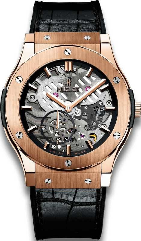Hublot Classic Fusion Ultra-thin skeleton King Gold 45mm 515.OX.0180.LR