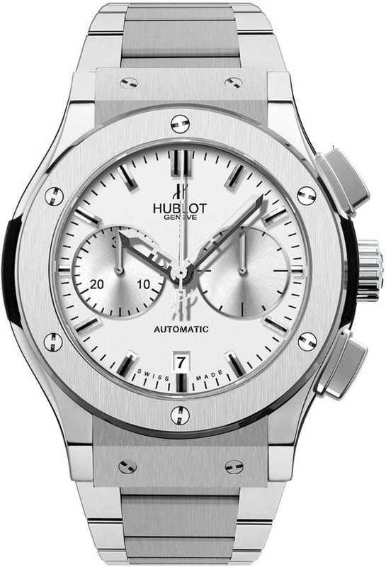 Hublot Classic Fusion Chrono Titanium Opalin Bracelet 45mm 521.NX.2610.NX