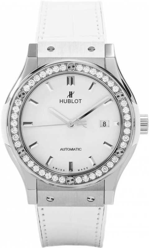 Hublot Classic Fusion Titanium White Diamonds 42mm 542.NE.2010.LR.1204