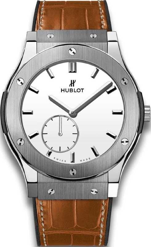Hublot Classic Fusion Ultra-Thin Titanium White Shiny Dial 515.NX.2210.LR