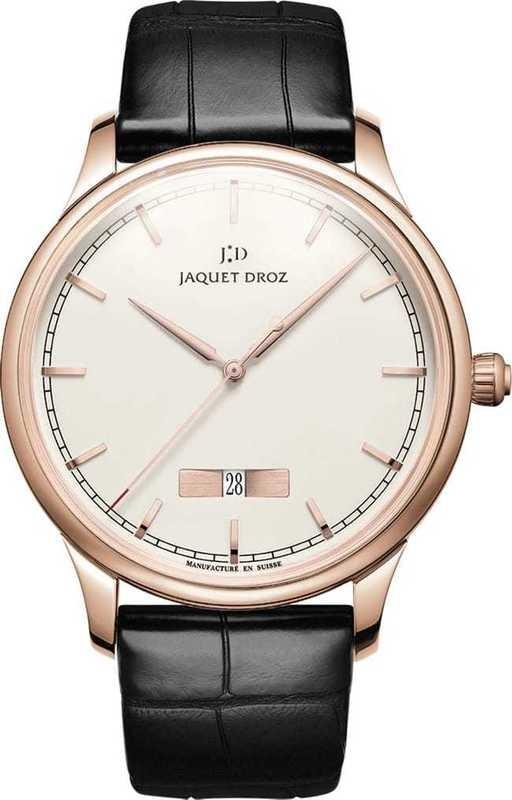 Jaquet Droz Grande Heure Minute Quantieme Ivory Enamel J017533200