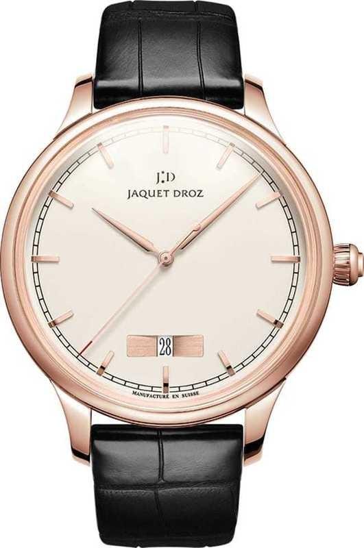 Jaquet Droz Grande Heure Minute Quantieme Ivory Enamel J017513200