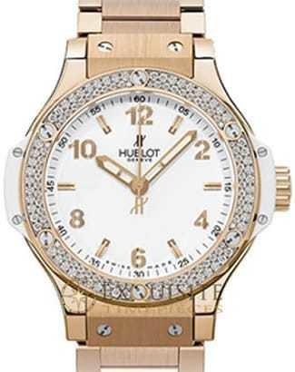 Hublot Big Bang Gold White Diamonds Bracelet 38mm 361.PE.2010.PE.1104