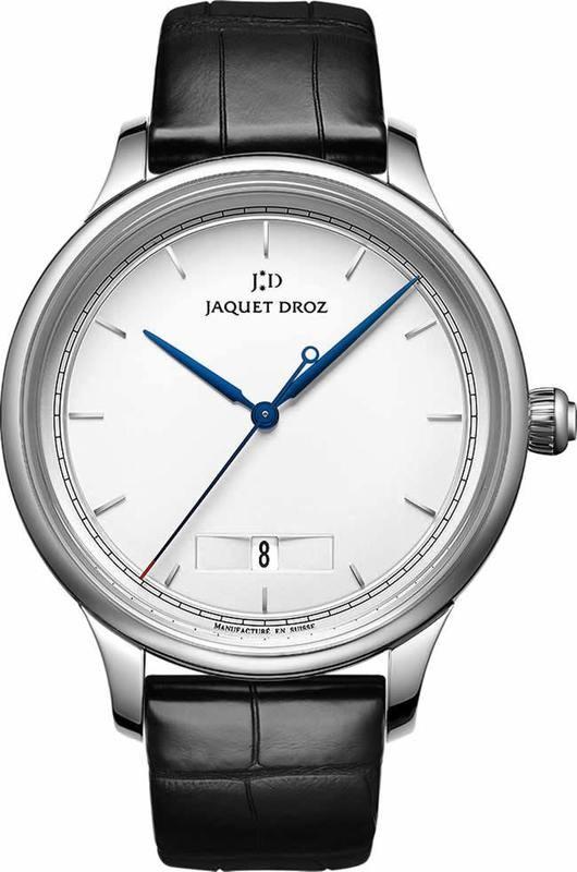 Jaquet Droz Grande Heure Minute Quantieme Silver J017510240