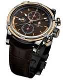 Louis Moinet Geograph 18K Gold and Steel Havana Dial LM-24.30.95