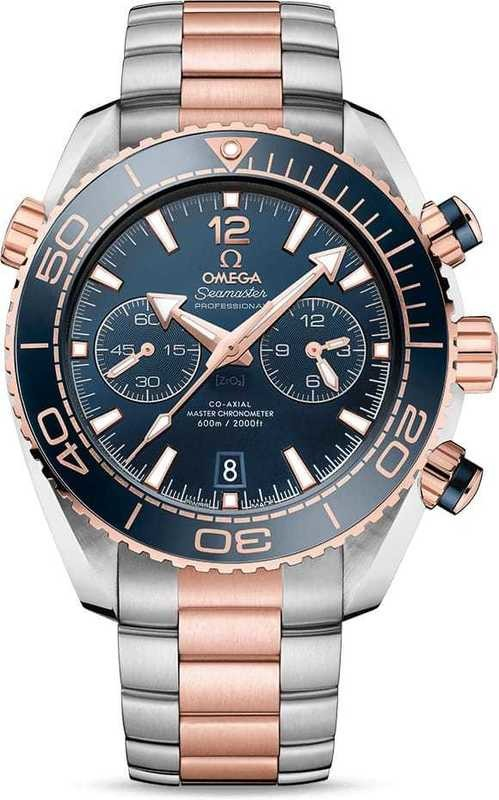 Planet Ocean 600M Omega Co-Axial Master Chronometer Chronograph 45.5M on Bracelet 215.20.46.51.03.001