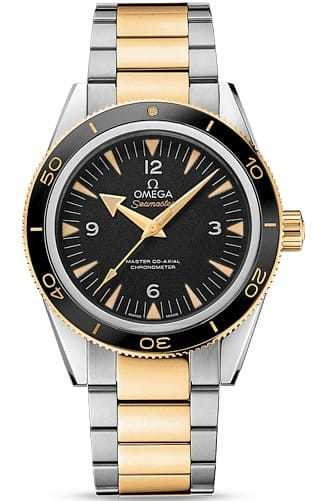 Omega Seamaster 300 Master Co-axial 41mm Black Dial on Two Tone Bracelet