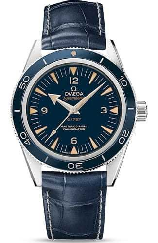 Omega Seamaster 300 Master Co-axial 41mm Blue Dial on Strap