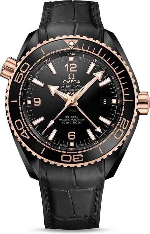 Planet Ocean 600M Omega Co-Axial Master Chronometer GMT 45.5mm Deep Black 215.63.46.22.01.001