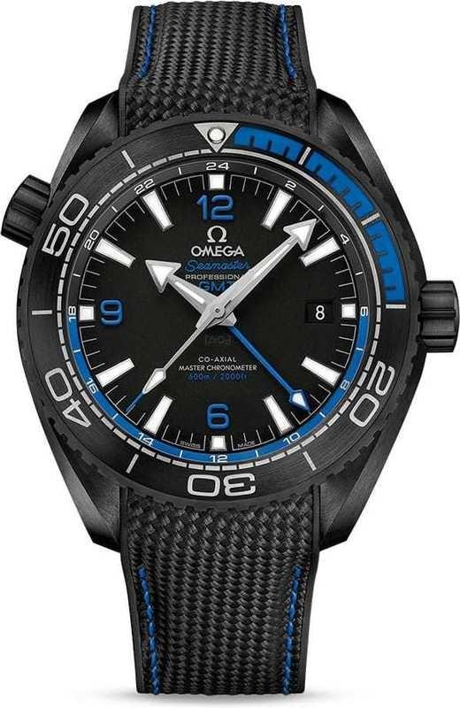 Planet Ocean 600M Omega Co-Axial Master Chronometer GMT 45.5mm Deep Black Blue 215.92.46.22.01.002