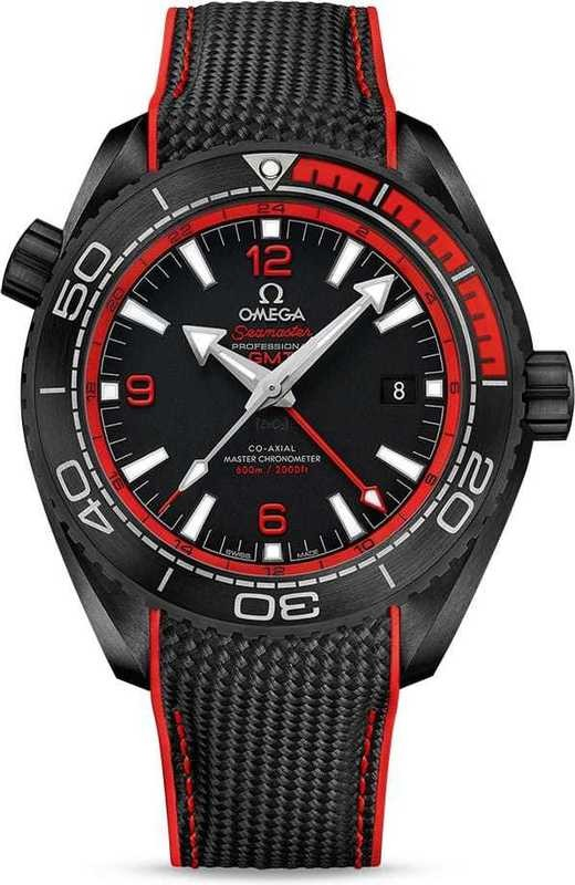 Planet Ocean 600M Omega Co-Axial Master Chronometer GMT 45.5mm Deep Black Red 215.92.46.22.01.003
