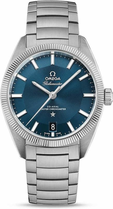 Constellation Globemaster Omega Co-Axial Master Chronometer 39mm blue on bracelet