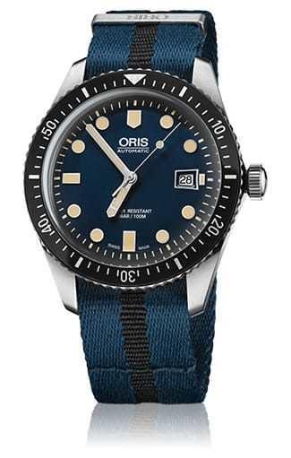 Oris Divers Sixty-Five Nato Strap Blue 01-733-7720-4055-07-5-21-28FC