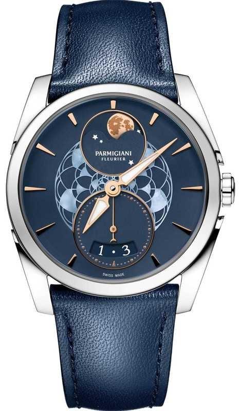 Parmigiani Fleurier Tonda Metropolitaine Selene Moon Phase Steel Blue PFC283-0002500-HC2521