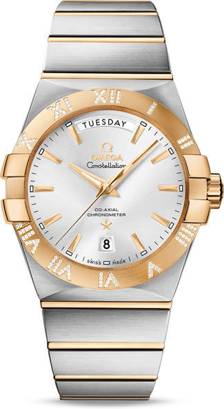 Constellation Omega Co-Axial Day-date 38mm 123.25.38.22.02.002