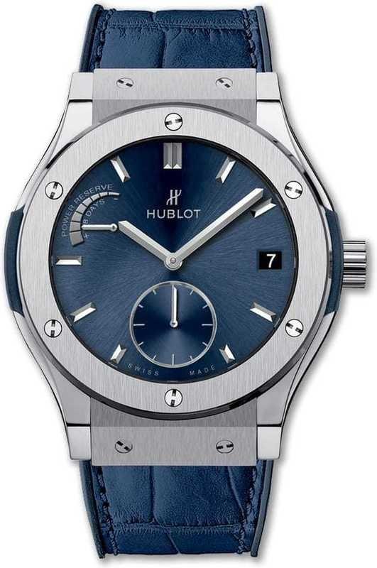 Hublot Classic Fusion Power Reserve Titanium Blue 516.NX.7170.LR
