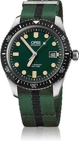 Oris Divers Sixty Five Green Dial NATO Strap